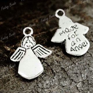 60pcs Tibetan Silver Angel Charms Pendants Drops TS0140