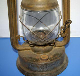 Anique Barn Lanern Kerosene w Wick Glass Shade No Damage Paulls