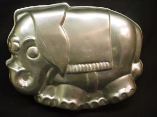 Wilton Big Elephant Cake Pan Jungle Safari Animal Metal Mold 1974 Zoo