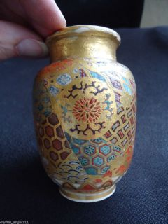 Antique Japanese Tashio Satsuma Flower Vase