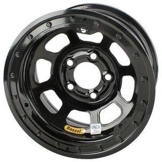 New Black 15 x 8 Bassett 5 on 4.75 D Hole Beadlock IMCA Wheel, 2