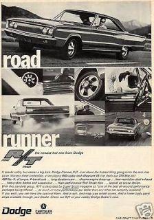 1966 1967 dodge coronet rt print ad