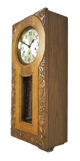 Antique French Westminster Chime Wall Clock at 1910 Great Carvings