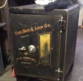Antique Safe York Safe Lock Co Vintage R A Gernert Agent