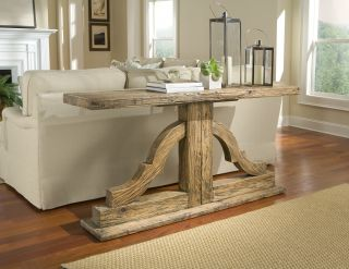 Antique Reclaimed Elm Wood Console Table Large Bracket Style Trend New