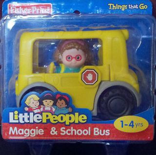 Newly listed NEW Little People Maggie & School Bus by Fisher Price