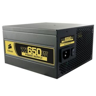 Corsair TX650W Power Supply Unit 80 Plus Certified ATX 12V