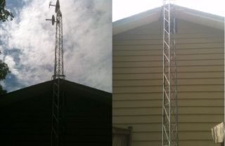 40 Foot Antenna Tower for Use with Ham Radio Satelitte Dishes etc Used