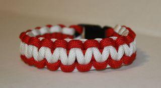 Alabama Crimson Tide Color Paracord Bracelet   Custom Fit BCS National