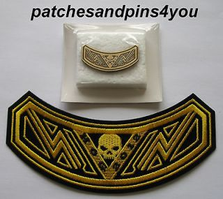 harley davidson hog 2012 patch pin set new from united