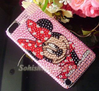 Mouse Bling Crystal Case Cover for Apple iPod Touch 5 5th Gen