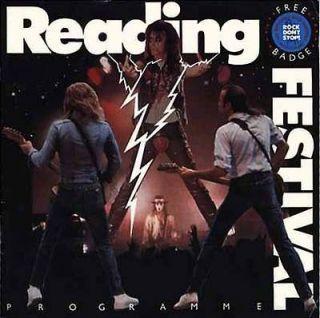Rock Festival Programme 1987 (Status Quo, Alice Cooper) EX COND