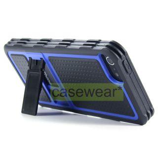 Aqua Blue Kickstand Pro Guard Hard Case TPU Gel Cover for Apple iPhone