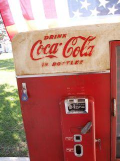 Vintage 1950s Vendo 110 Coca Cola Coke Machine