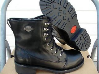 Womens harley davidson boots black meg comfort boots size 6 us new in