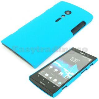 Aqua Blue Hard Back Cover Case Sony Xperia ion LT28i