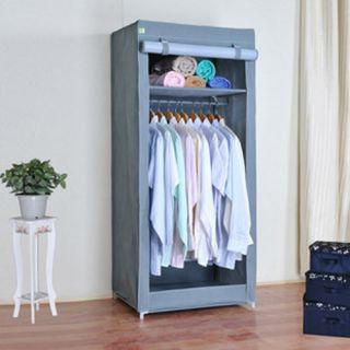 Simplicity Cloth Clothes Wardrobe Armoires Silver Storage Box