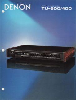 denon tu 600 tu 400 tuners brochure 1986 time left