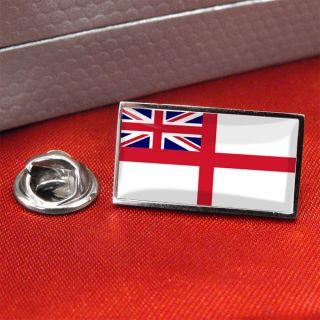 white ensign royal navy flag lapel pin badge tie pin