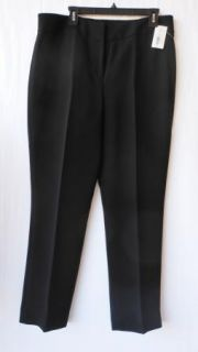 Tahari Luxe Black Crepe & Satin Tuxedo Pant Suit Pants Jacket 16 NWT $