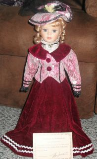 Ashley Belle Porcelain Doll Collection Hester Limited Edition 18 tall