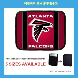 NFL Football Atlanta Falcons Laptop Netbook Case Sleeve Pouch