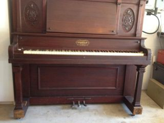 Beautiful Antique 1909 Upright Poole Piano Bench made in Boston