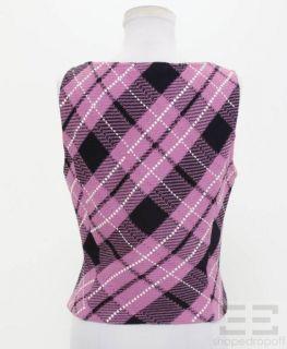 St John St John Sport 2pc Pink Argyle Black Silver Knit Top Set Sz P 6