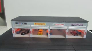 slot car garage pit for either HO or 1 43 scale layout custom made and