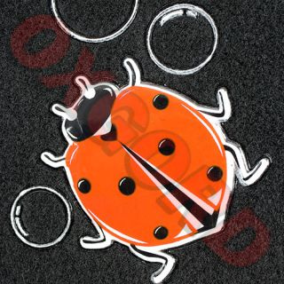 Ladybug Bubbles Design Black Carpet Auto VAN Floor Mats Front & Rear