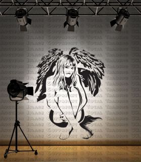 angel fairy woman wall sticker graphic big 1st p p