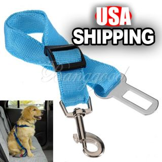 Pet Dog Cat Adjustable Car Vehicle Safety Seatbelt Seat Belt Clip