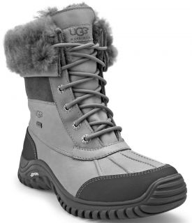 ugg adirondack boot ii 3052 womens gray leather lace up
