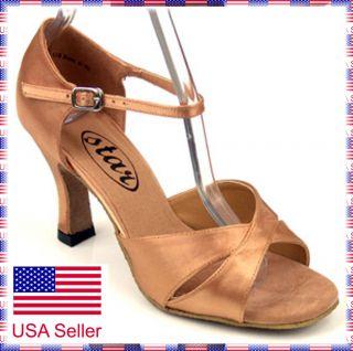 New 161502 Flesh Color Ballroom Latin Salsa Swing Dance Shoes(2.2, sz