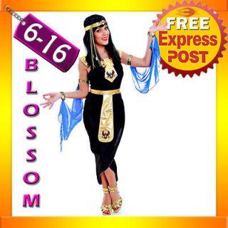 Cleopatra Egyptian Goddess Fancy Dress Halloween Costume & Headband