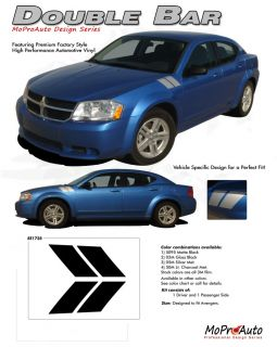 2008 Avenger Double Bar Hash Style Decals Stripes Hood Vinyl Graphics