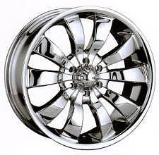 18 inch EVOLUTION 18x8 6 lug Chrome 6x5 Chevy +30 RIMS Wheels SET