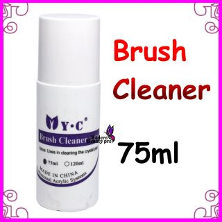 Professional 75ml Acrylic Nail Art Brush Cleaner Cleanser Nail Pen