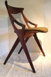 Mid Century MCM Arne Hovmand Olsen Danish Modern Scissor Chair Eames