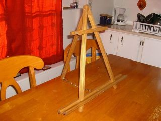 Golden Oak Stain Art Table Top Easel Artist Easel Display Easel