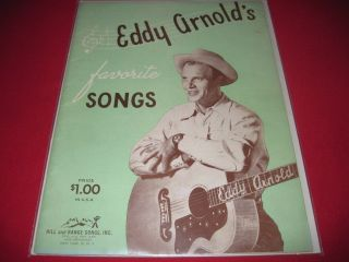 RARE Sheet Music Book Eddy Arnolds Favorite Songs