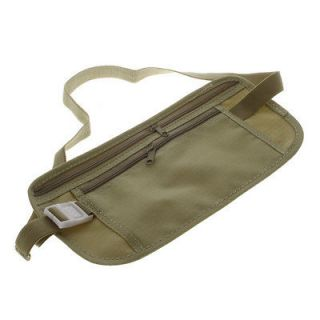 New Grey Security Money Belt Travel Pouch Wallet Waist/Bum Bag
