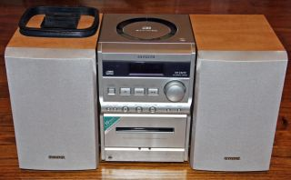 Aiwa XR EM20 Stereo System Surround Sound CD Player Cassette Radio AM