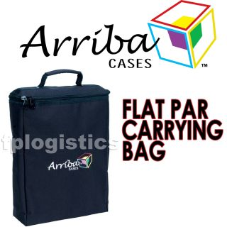 Arriba Cases AC 117 Flat Par LED Lighting Carrying Case New
