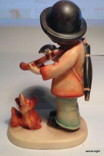 RARE Hummel Puppy Love 1 TMK1 Little Violinist Boy w Dog Figurine 1935