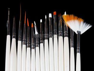 New 15 Pcs Nail Art Brushes Design Polish Brush Painting Drawing Pen