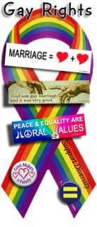 Coexist 4 Round Bumper Sticker Rainbow Gay Rights Equality LGBT