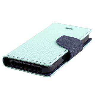 Mint Mercury Fancy Diary Flip Case Cover Apple iPhone 5 5g