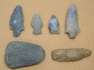 Arrowheads Rock Tools Native American Indian Tool Spear Artifacts LOT