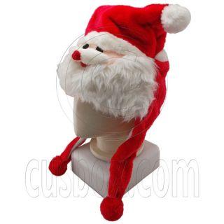 Red Christmas xmas Santa Claus Cartoon Mascot Plush Costume Halloween